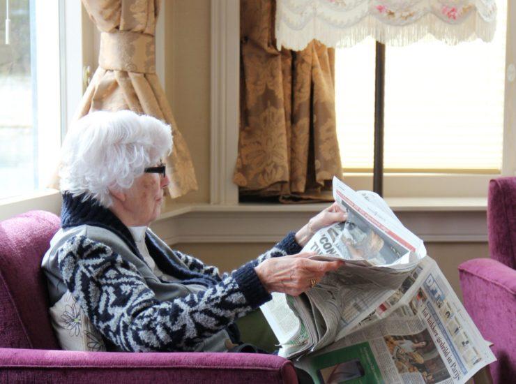 Krant lezen