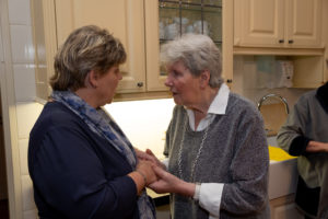 Een gesprek voeren in de keuken